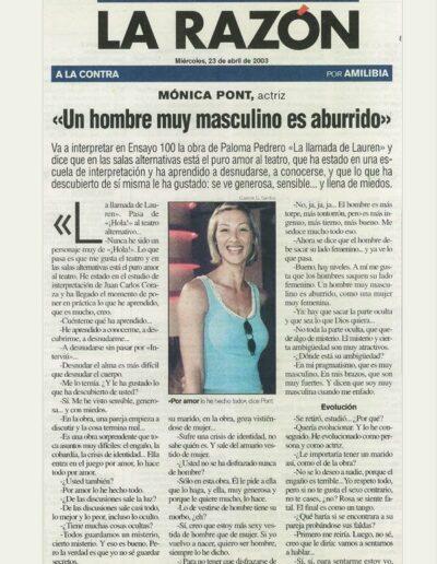 Prensa larazon 04 - Mónica Pont